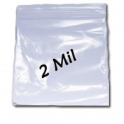 2 Mil Clear Reclosable  Bags