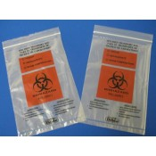 Biohazard Medical Bags with Back Flap
