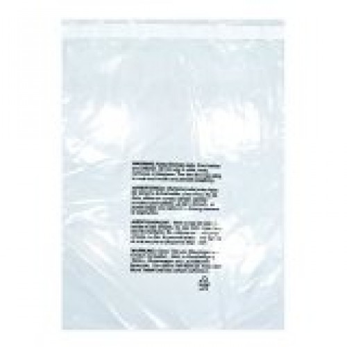 6x8, 1.5 mil Self-Seal Suffocation Warning Bags